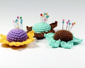 Crochet Pattern Flower Pincushion Pincushion PDF Pattern Crafting Tutorials