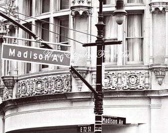 New York Sign, Fashion Photography, Madison Avenue, Fashion,NYC, Travel, Manhatten, Street, Dorm Decor, Preppy, Romantic,Office Art, Nursery