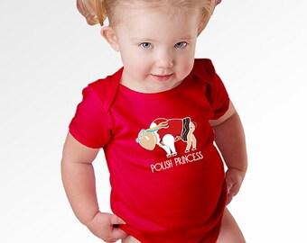 Girl Polish Infant One Piece Buffalo Polish Princess Cute