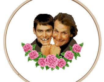 Dumb and Dumber Cross Stitch Pattern - Instant Download