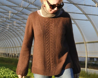 Meadow Road Pullover Knitting Pattern PDF