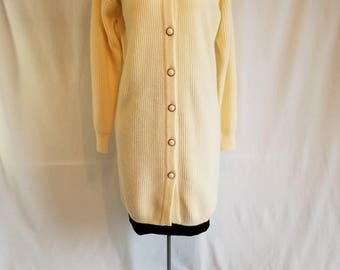 Ladie's Long Ivory Cardigan NWT