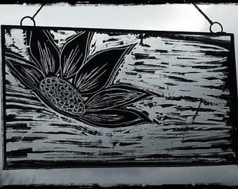 Lotus flower sun-catcher