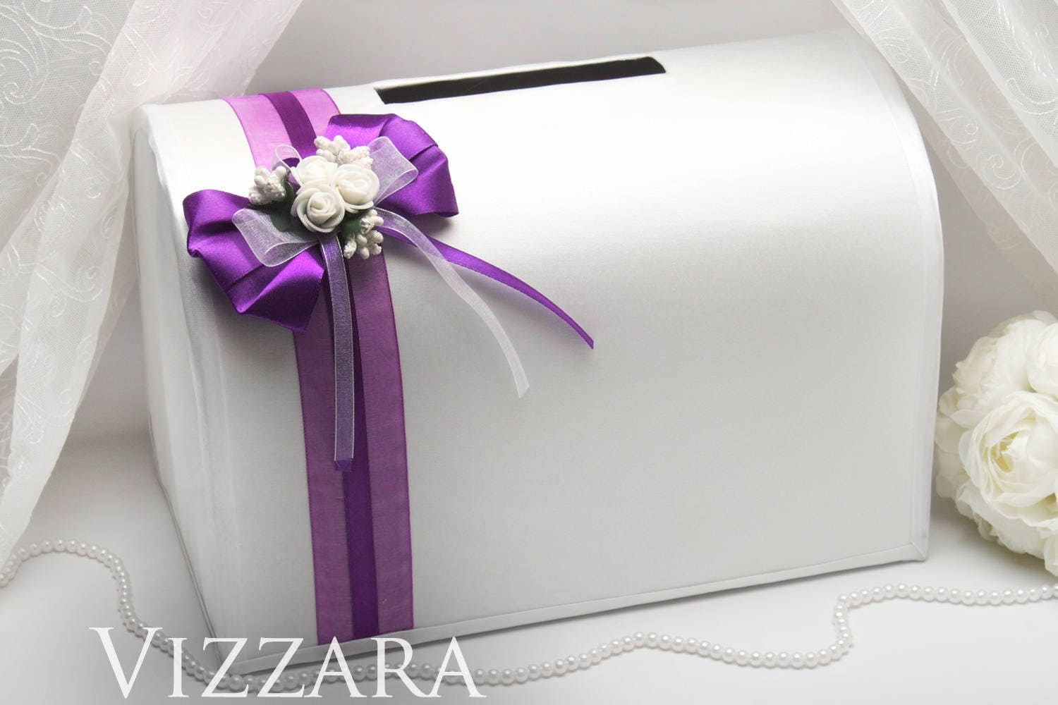Wedding money boxes Purple weddings Money box for weddings