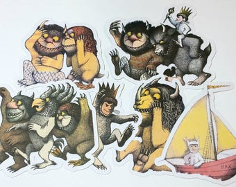 Large Die Cuts - Where the Wild Things Are,INSTANT DOWNLOAD, Cut Outs, Where the Wild Things Are Party,Wild Things,Wild Thing Baby Shower