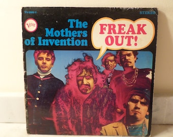 Vintage 1966 Vinyl LP Record Freak Out! The Mothers of Invention Frank Zappa Very Good Condition 14652