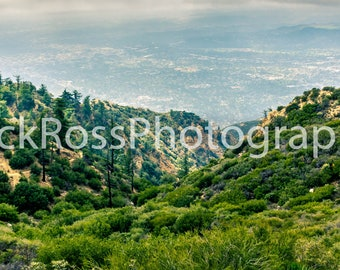 Canvas Print of View Atop Inspiration Point