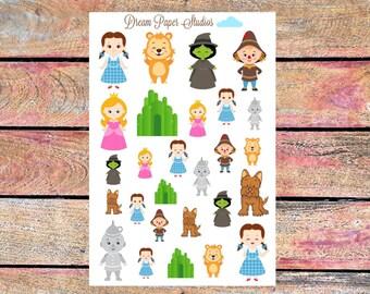 Wizard of Oz planner stickers