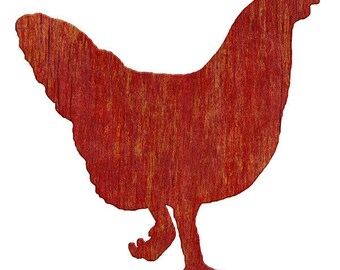 Hen Farm Animal Wall Decal Red #44912