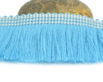 50cm turquoise 25mm cotton fringe trim