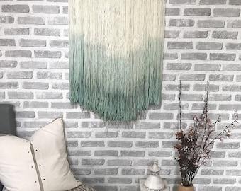 SeaMist Wool Wall Hanging Art