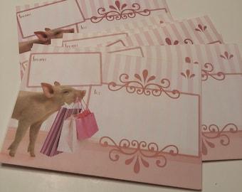 Pretty In Pink Pig Envelopes