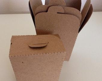 Kraft Card Mini Take Out Boxes Wedding Favor Box (20)
