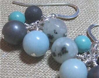 Ocean Cluster Earrings - E725