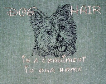Dog Hair is a Condiment - Tea Towel - Kitchen Towel - Dish Towel - Home Decor - Westie