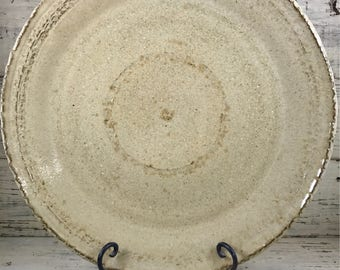 Pottery, Wheel Thrown Large Handmade Stoneware Ceramic Platter