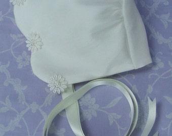 Daisy Silk Christening Bonnet by Okika , made in England