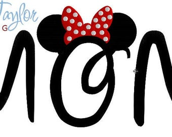 MOM Embroidery Design Applique 4x4, 5x7, 6x10 in 9 formats-Instant Download-David Taylor Digitizing