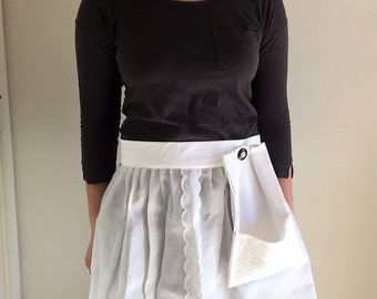 Serving apron - Swiss cotton - Gift for her -