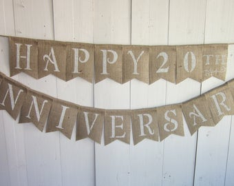 Anniversary banners anniversary party decorations rustic