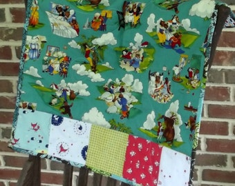 Fairy Tale Baby Unisex Stroller Blanket, Handfinished