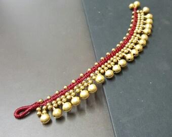 Jingling Belly  Red  Brass Bracelet