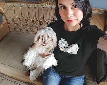 Maltese Christmas T-Shirt (Women) | Holiday Dog Tees