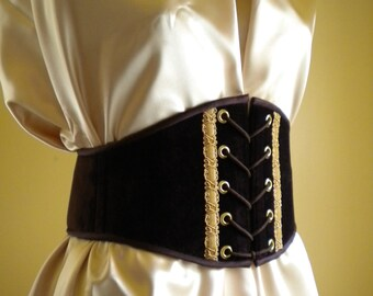 Boned Waist Cincher Wench Belt Renaissance Steampunk
