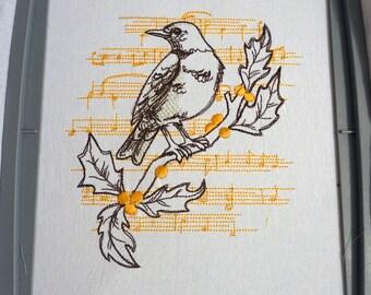 Bird Song Pattern Flour Sack Towel - BACKORDERED UNTIL 3/15/2018