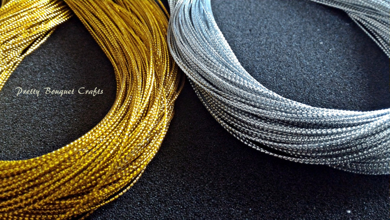 Metallic Gold String|Metallic Silver String|Jewelry Silver Thread ...