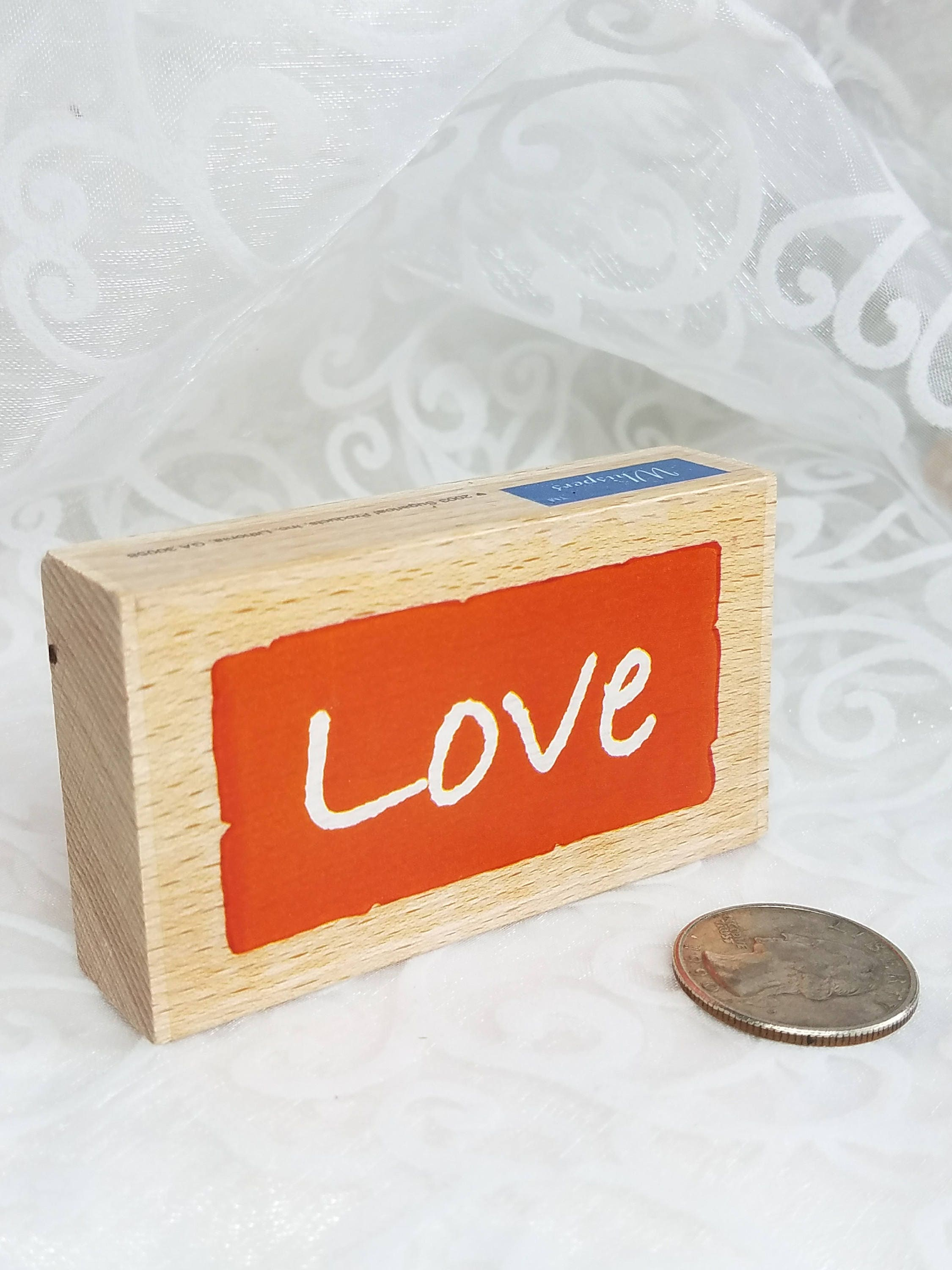 Love rubber stamp by Whispers Sugar Loaf, Craft Destash, Used rubber ...