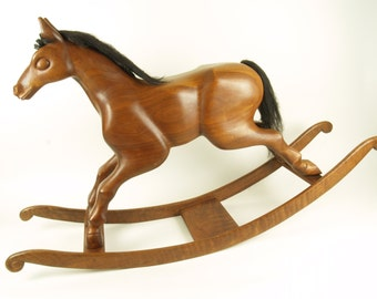 Rocking horse - hand carved