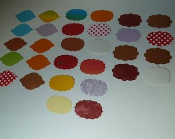 Set no. 2 Noémie paper Cartonne tags cut-outs