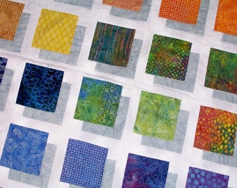 COLOR BLOCK Quilt Pattern to make this Stunning Quilt  Full instructions and color photos included