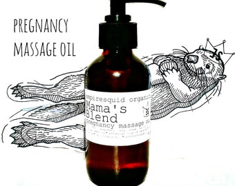 Mama's Pregnancy Massage Oil, Organic Pregnancy Oil, Belly Oil, Mom To Be Gift, Expecting Mom Gift, Pregnancy Gifts, Stretch Mark Reducer