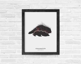 Edmundston Porcupine Print