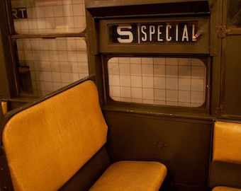 Vintage New York Subway photo, New York Photography, vintage subway signs - fine art photograph