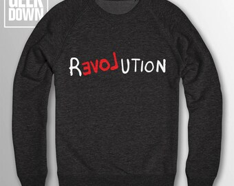 Love Revolution sweatshirt // peace / love / hipster sweatshirt / hipster clothing / hipster jumper / hipster sweater