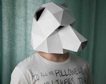 Polar Bear Low Poly Mask Download PDF