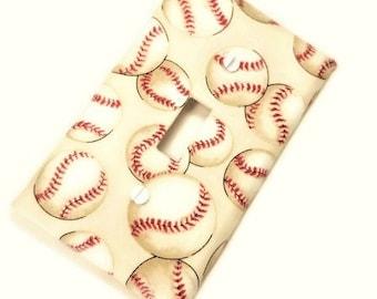 Baseball Nursery Decor   Baseball Home Decor    Baseball Light Switch Cover   Boys Bedroom Decor   Boys Nursery   Baseball Decor