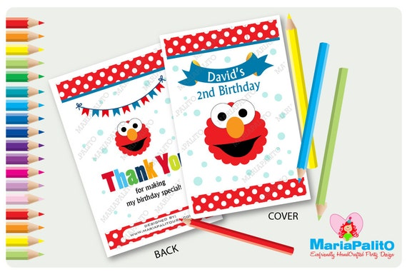 6 elmo coloring books personalized coloring books sesame
