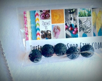 14mm Lava Rock Replacement Diffuser Necklace Beads