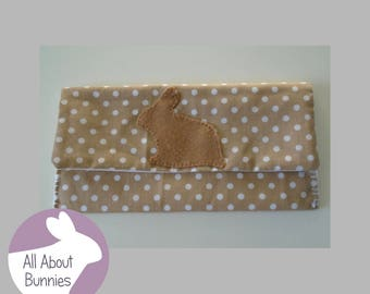Handmade Cute Bunny Rabbit Velcro Coin Purse