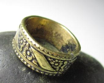 Brass Floral Ring