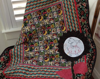 Baby Or Small Lap Quilt--- FREE SHIPPING