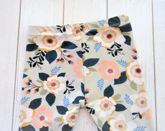 Floral Leggings, Baby Leggings, Floral Baby Outfit, Christmas Outfit, Thanksgiving Outfit, Floral Baby Girl, Baby Gift, Fall Pant, Mustard