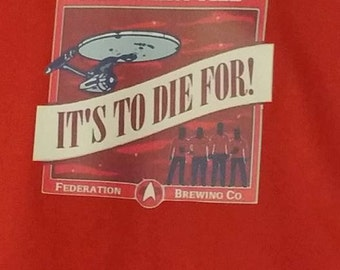 Red Shirt Ale T-shirt / Star Trek Spoof tshirt