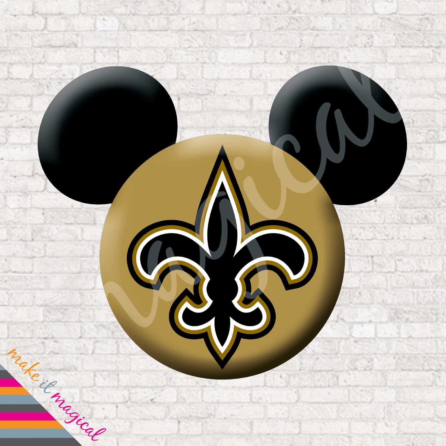 New Orleans Saints Mickey Mouse Head Digital Download New Orleans ...