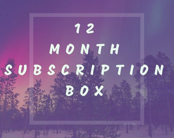 12 Month Subscription Box