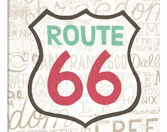 iCanvas Road Trip Route 66 Gallery Wrapped Canvas Art Print by Oliver Towne